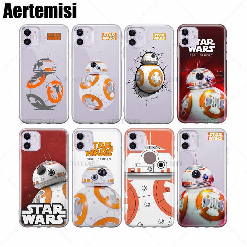Aertemisi Telefon Fällen Star Wars BB-8 Droid Roboter Klar Weichen TPU Fall Abdeckung für iPhone 5 5s SE 6 6s 7 8 Plus X XS XR 11 Pro Max