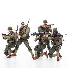 Nowy JOYTOY 1/18 10.5 cm figurka WWII USMC żołnierz (5 sztuk/zestaw) kolekcjonerska zabawka Model wojskowy prezent
