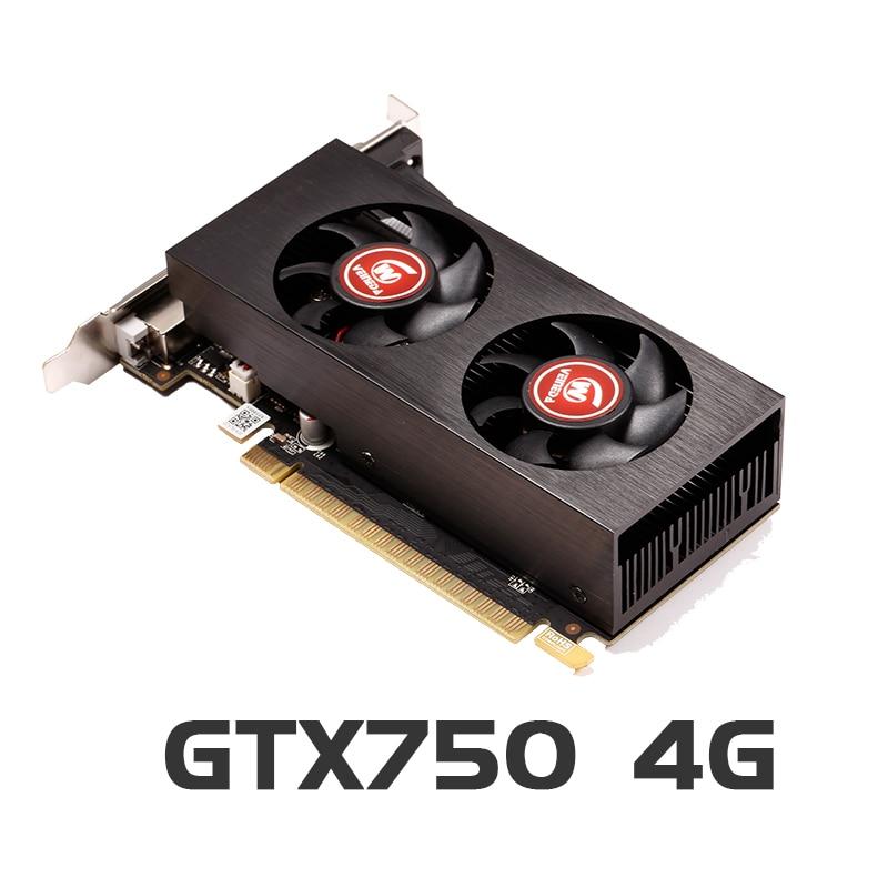 Видеокарта оригинальная GPU GTX750 4 ГБ GDDR5 графическая карта Instantkill GTX650Ti ,HD6850 ,R7 350 для nVIDIA Geforce игр