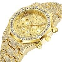 아이스 아웃 힙합 남성 시계 다이아몬드 남성 럭셔리 비즈니스 크로노 그래프 로얄 데이트 다이브 스포츠 밀리터리 시계 reloj de hombre