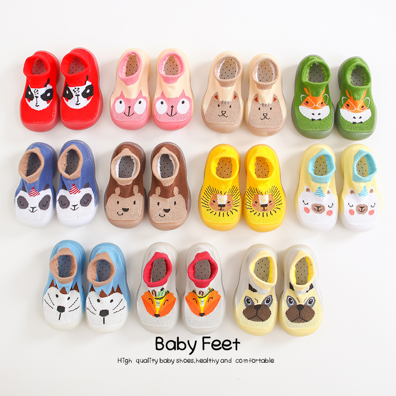 Baby Socks Shoes Boy Girl Fashion Toddler Shoes Anti-Slip  Soft Rubber Shoes Animal Style 2020 New Arrival