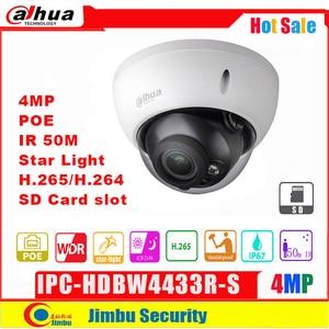Image 1 - داهوا IP كاميرا 4MP POE IPC HDBW4433R S H2.65 للرؤية الليلية ضوء النجوم IR50M مع ذاكرة مايكرو SD 128G IP67 ، IK10 كاميرا تلفزيونات الدوائر المغلقة
