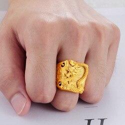 Женское кольцо из чистого золота 24 К, не выцветает, Forever, ювелирное изделие для свадьбы