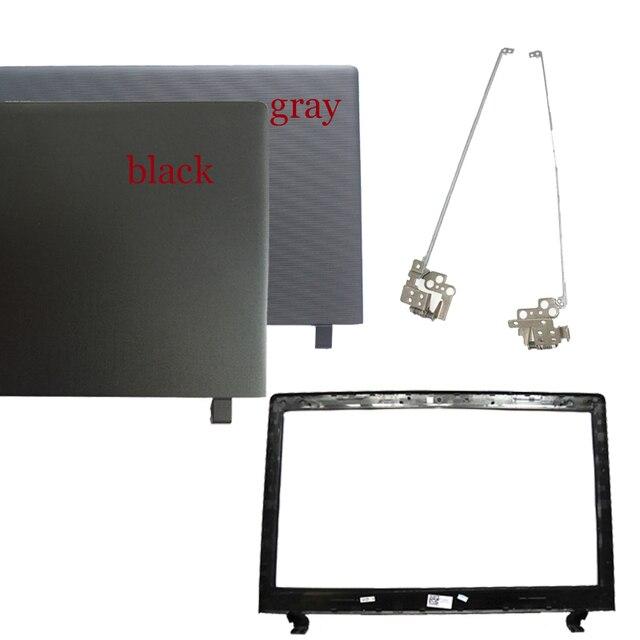 ใหม่สำหรับ Lenovo IdeaPad 100 15 100 15IBY B50 10 LCD ปกหลัง AP1HG000100 ฝาครอบด้านบนฝาครอบด้านหลัง/กรอบจอ LCD/บานพับ