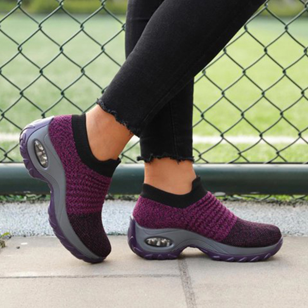 Women Sneakers Air Mesh Breathable Pumps Shoes Spring Summer Womens Casual Running Shoes Footwear Comfy Slip On Sneaker D30