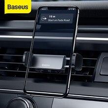Baseus araç telefonu tutucu hava firar standı Iphone XS için 11 Samsung 4.7-6.5 inç cep telefonu otomatik desteği araç telefonu braketi