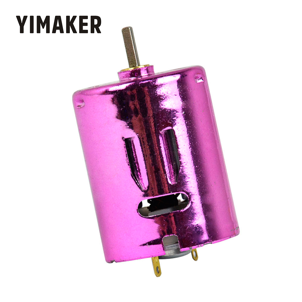 YIMAKER Micro <font><b>370</b></font> Water Bomb <font><b>Motor</b></font> 7.4V 11.1V 65000rpm Strong Magnet <font><b>Motors</b></font> Double Ball Bearing <font><b>370</b></font> DC <font><b>Motors</b></font> Purple Phantom image