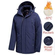 Hommes 2020 hiver nouveau Long décontracté épais polaire à capuche imperméable Parkas veste manteau hommes Outwear mode poches Parka veste 46-58