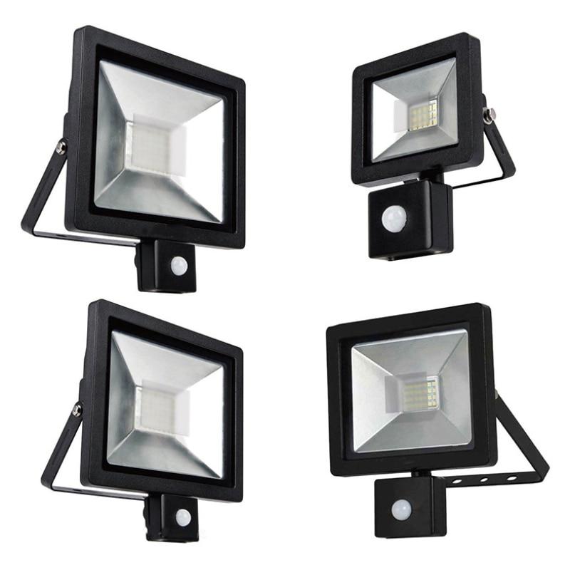 LED PIR Motion Sensor Adjustable Floodlight Outdoor 85-265V IP65 LED Motion Sensor Adjustable Outdoor Wall Lamp Spotlight
