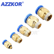 Connector Pneumatic-Fitting The-Air-Compressor-Parts PC Straight-Push 10-12 3/8-5pcs