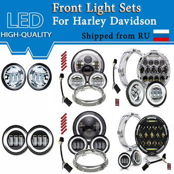 Led Headlight Fog Light for Harley Dvidson & 4.5 inch Lamp Driving lights Offroad Motorcycle ATV With Mounting Bracket