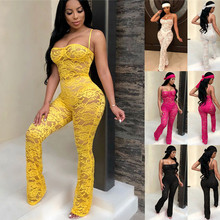 Lace Jumpsuit 2019 New Fashion Rompers Womens Jumpsuits Club