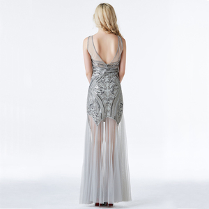 Image 3 - YIDINGZS Sequins Beading Evening Dresses Mermaid Long Formal Evening Party Dress 2020 New Style YD919