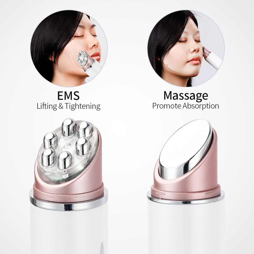 Multifunktions LED Photon Therapie Hohe Vibration EMS Heizung Massage Gesicht Auge Massager Haut Hebe Anti-Falten SPA Gesichts Werkzeug
