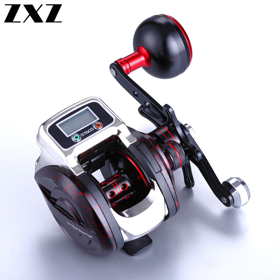 New 13+1 Bearing Left/Right Fishing reel with Digital Display Fishing Line Counter Saltwater Carp Reel 6.3:1 Casting Scroll Tool