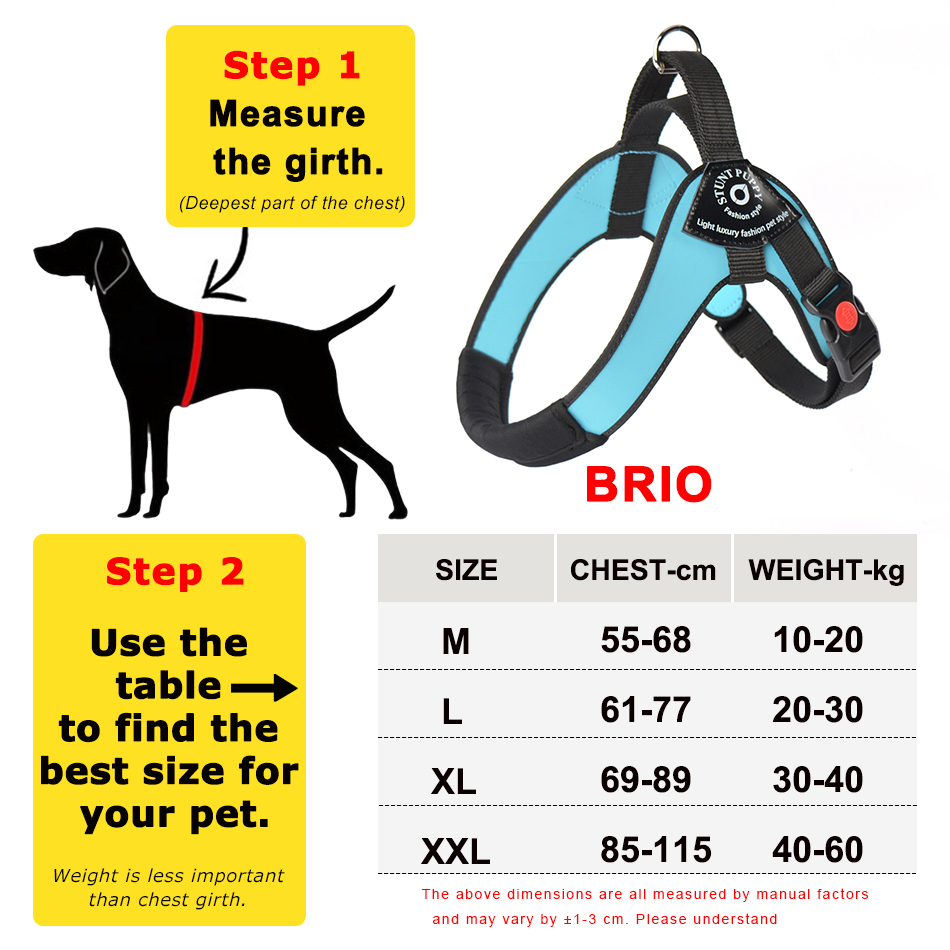 Image 4 - Stunt Puppy Brio Pet Big Dog Harness Soft Double Coated Leather Large Dogs Harnesses Comfortable Waterproof Durable 10 60kgHarnesses   -