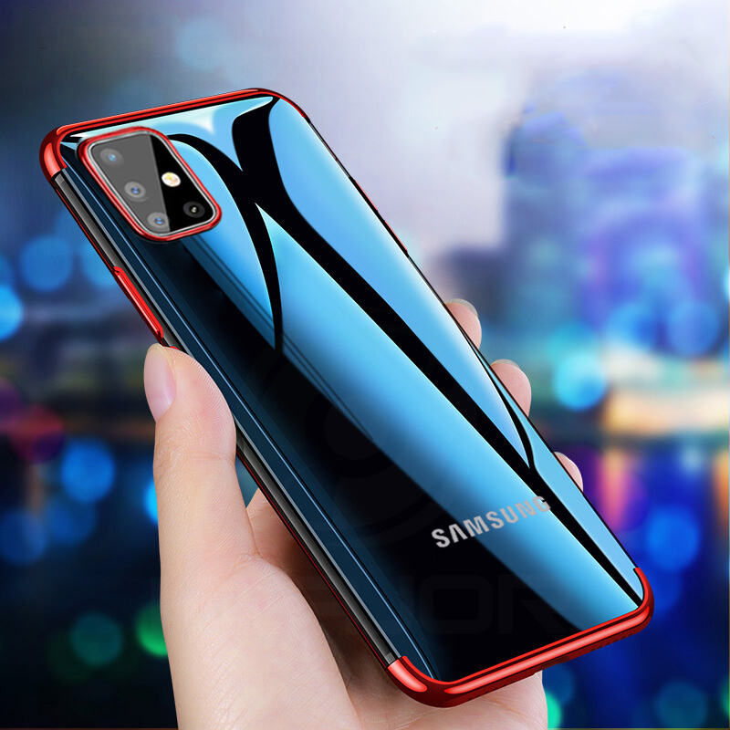Transparent Case For Samsung A51 A71 Case Luxury Cover Shockproof Phone Case For Samsung Galaxy A51 A71 Case Soft Bumper Shell