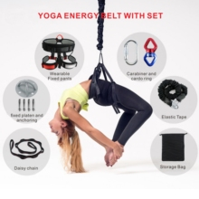 Bungee Dance Fitness Training Aerial Yoga Cord Pilates Elastic Suspension Sling Trainer Pull Rope new pilates suspension elastic sling practice pull rope bungee home workout trainer cord resistance hang training straps