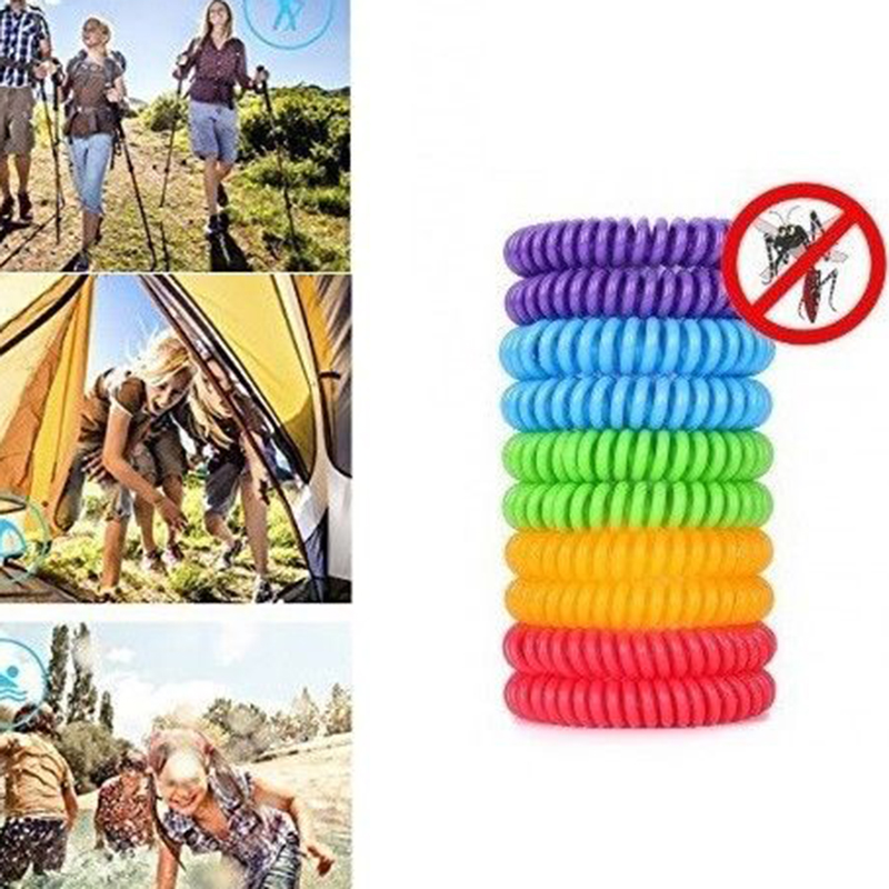 10pcs/set Outdoor Anti Mosquito But Pest Repellent Bracelet 240hours Insect Protection Wristbands for Adults Kis(China)
