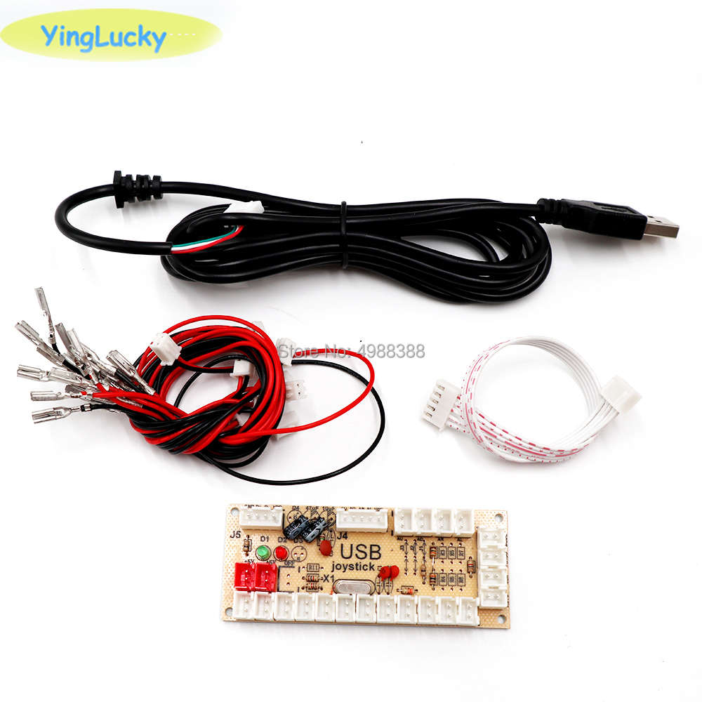 DIY Аркады нулевой задержкой 5В USB ПК Джойстик Аркада кодер рокер плата управления таблом модуль MAME 2Pin с металлической кнопкой кабель