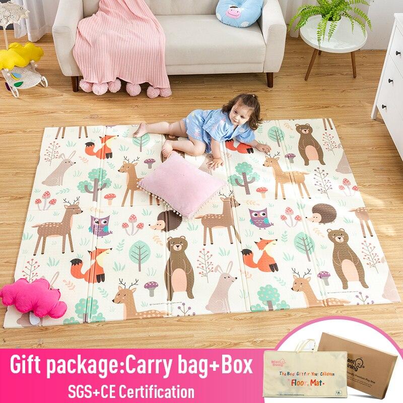 Infantil brilhante bebê jogar esteira xpe, quebra-cabeça das crianças, tapete engrossado, tapete infantil do quarto, bebê, engatinhando, almofada dobrável, tapete do bebê tapete