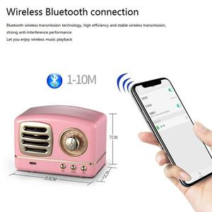 Image 2 - Taşınabilir hoparlör Bluetooth hoparlör Mini Retro kablosuz hoparlörler radyo USB/TF kart müzik çalar HIFI Subwoofer Bluetooth 4.1