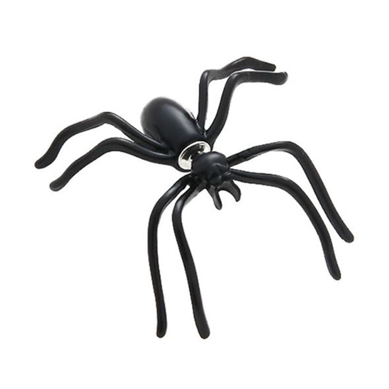 1 pc preto aranha brincos personalidade dupla face brincos para mulheres moda jóias engraçado festa de halloween presente oorbellen