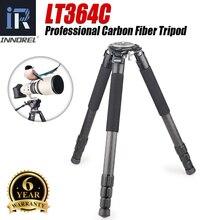 LT364C 전문 10 레이어 탄소 섬유 삼각대 헤비 듀티 망원 렌즈로드 35kg 니콘 캐논 DSLR 디지털 카메라 비디오