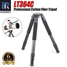 LT364C Professional 10 Layers Carbon Fiber Tripod Heavy Duty Telephoto Lens Load 35kg for Nikon Canon DSLR Digital Camera Video