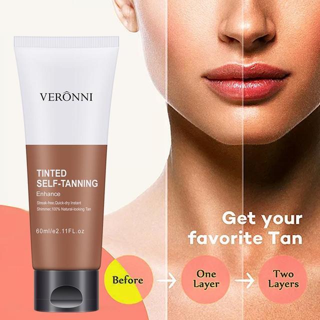 Suntan Self Tanning Cream Stay Bronze Self Sun Tan Tanning Enhance Day Tanning Cream Face Body Bronzer Sunscreen Tanner Lotion 1