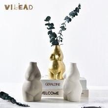 Vilead 3 цвета Керамическая Женская ваза для человеческого тела