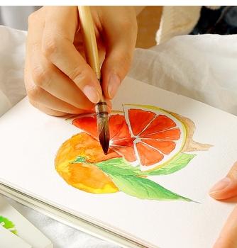 XSYOO akwarela kolorowanka szkic puste akwarela książka ręcznie malowane szkicownik do malowania rozpuszczalne w wodzie kolor dostaw sztuki tanie i dobre opinie CN (pochodzenie) Malarstwo papier Kolor wody kangda