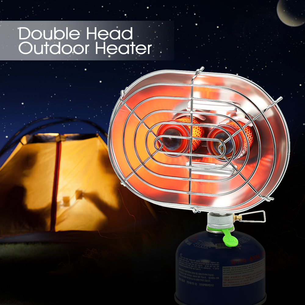 Outdoor Stove Hiking Camping Gas Stove BRS H22 Double Head Outdoor Heater Stove Portable Infrared Ray