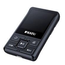 RUIZU X55 Sports Clip MP3 Bluetooth Running Card MP3 Player Mini Clip MP3 8G Black