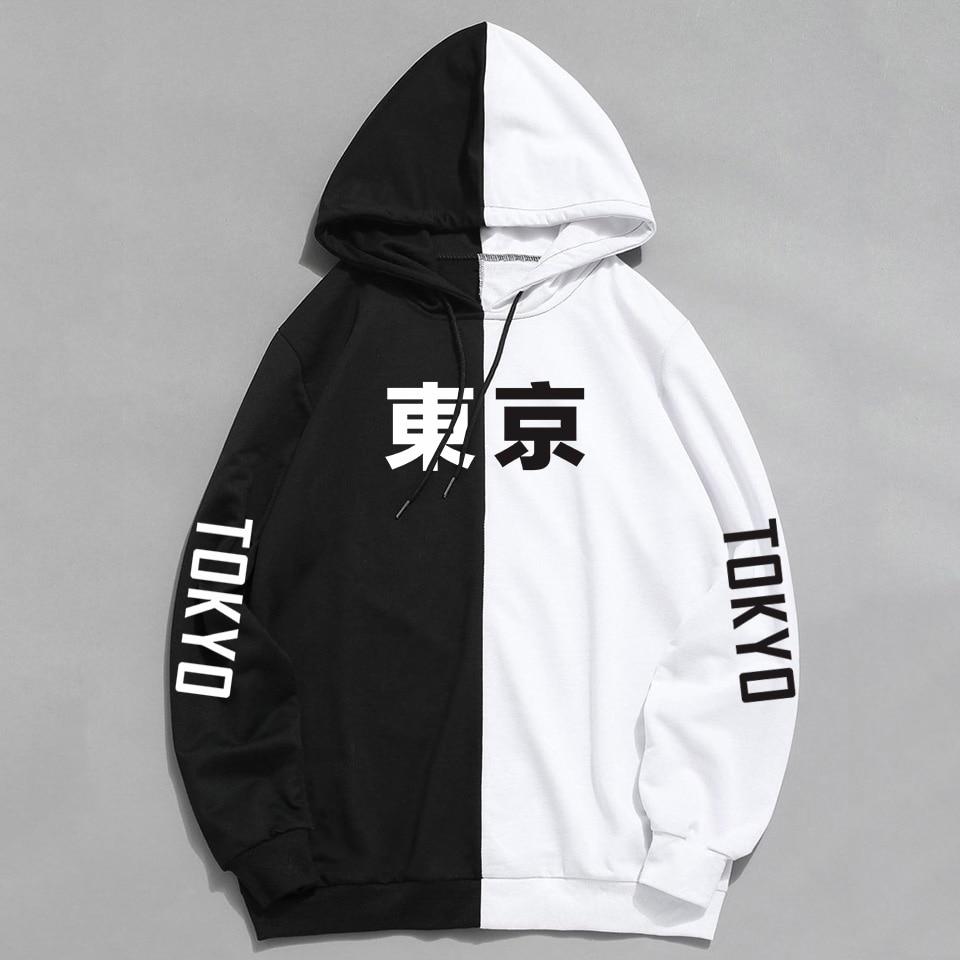 2019 Winter New Arrival Cool Tokyo City Man's Print Hoody Harajuku Pullover Hoodies Hip Hop Sweatshirt Hoodie Sudadera Hombre