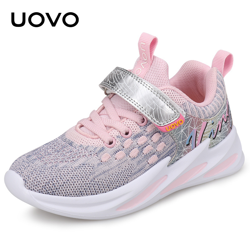 UOVO Kids Sport Shoes Girls Running Shoes 2019 Autumn Children Breathable Mesh Shoes Girls Fashion Sneakers #27-35