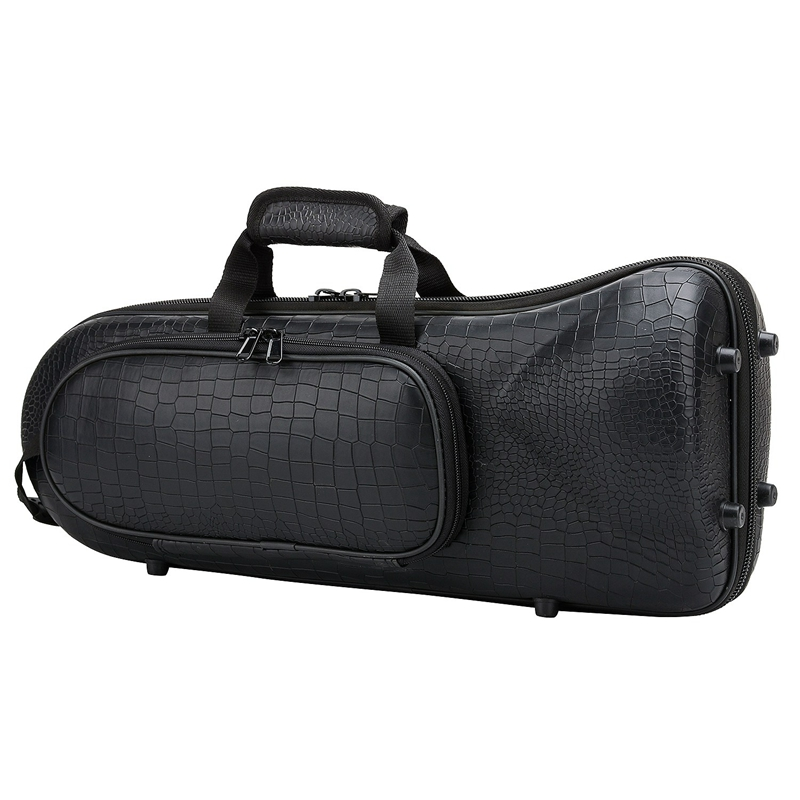NEW-Professional Trumpet Bag Oxford With Soft Cotton Bag Hard Foam Case Lightweight Design For Brass Instrument