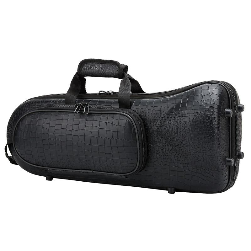 NEW-Professional Trumpet Bag Oxford With Soft Cotton Bag Hard Foam Case Lightweight Design For Brass Instrument