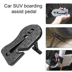 Image 1 - Uniwersalny samochód drzwi składany krok pomocniczy pedał dach Suv aluminium drzwi boczne hak do drzwi pedał łatwy dostęp akcesoria samochodowe