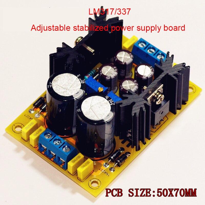 LM317// 337 Positive and Negative Adjustable Voltage Regulator Power Supply Board