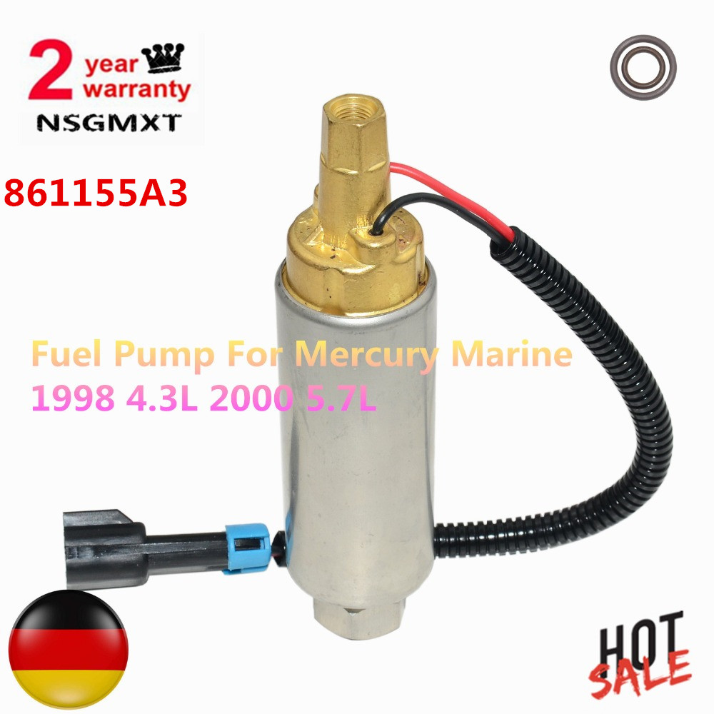 Low Pressure Fuel Pump For Mercury Mercruiser Boat 4.3 5.0 5.7  carb 861155A3