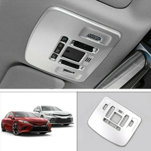 Abs Front Reading Light Cover Frame Trim,Ceiling Light Lamp Cover for Toyota Camry 2018-2020