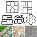 1 шт. вручную тротуарная бетонная форма для кирпича DIY Пластиковая форма для изготовления дорожек для украшения цемента сада