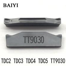 10 шт. TDC2/TDC3/TDC4 TT9030 CNC карбидная вставка TaeguTec пазовые карбидные вставки 2 мм 3 мм 4 мм лезвие канавки CNC токарные инструменты