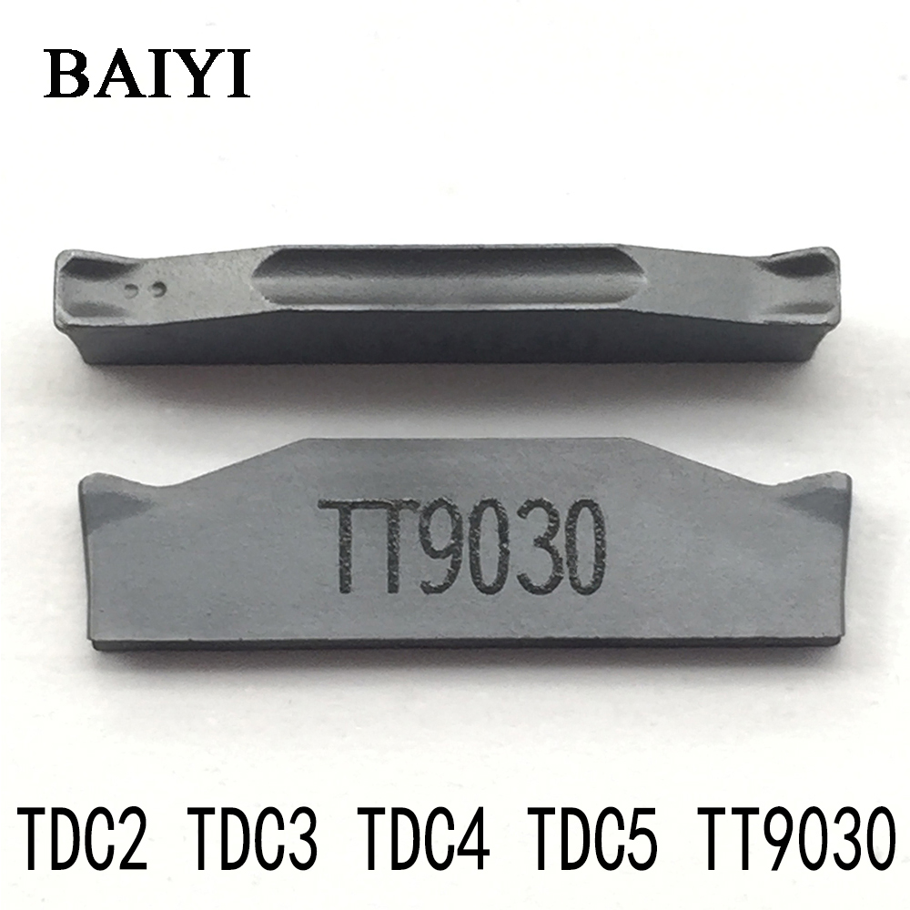 10pcs TDC2 / TDC3 / TDC4 TT9030 TaeguTec Carbide Insert 2MM 3MM 4mm Grooving, External And Internal Turning Tools CNC Lathe Tool