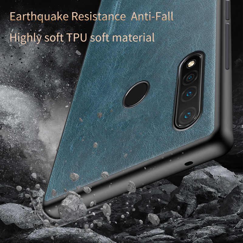 אמיתי עור שמן שעווה טלפון מקרה עבור Huawei P30 לייט P20 P10 P30 פרו Y7 Y9 Mate 20 פרו כיסוי לכבוד 9X 8X 20i 10i 10 20 פרו