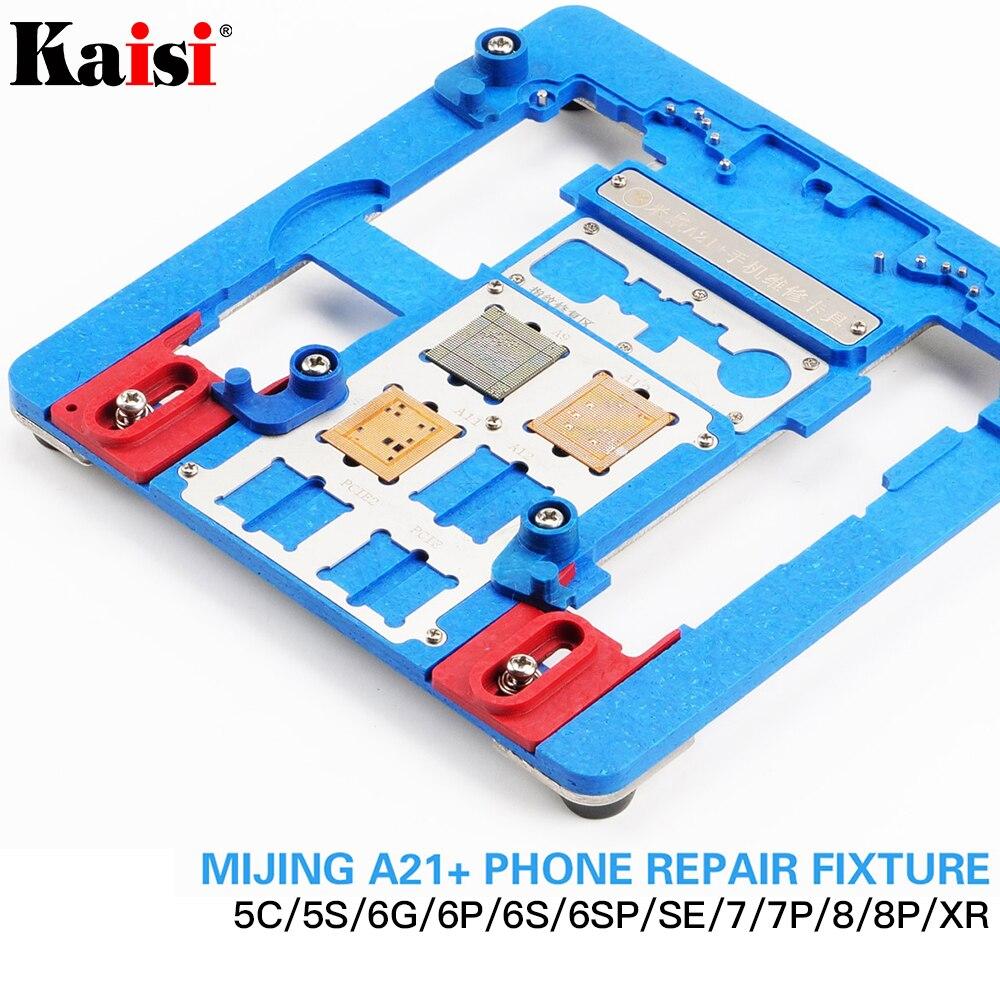 Kaisi A21 + Reparatur Board PCB Halter Für iPhone XR 8 8 + 7 6 6 s 6sp 5 s 5C Für A8 A9 A10 Logic Board Chip Leuchte 12 in 1-in Handwerkzeug-Sets aus Werkzeug bei