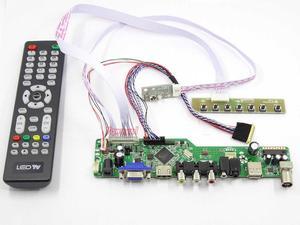 Kit de placa controlador para N173O6-L02 N173O6-L01 tv + hdmi vga + av usb lcd led tela placa motorista