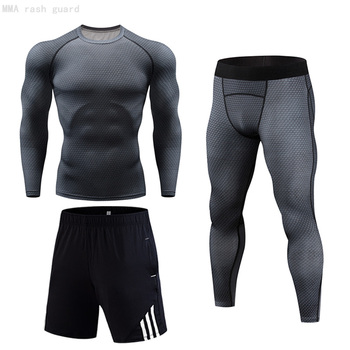 Brand Underwear Warm Men's Winter Training Base layer Tight long sleeves Fitness leggings suit Compression thermal underwear 4XL underwear brand menswear thermal underwear skull 3d pattern printing rashgard kit man tracksuit thermal underwear base layer 4xl