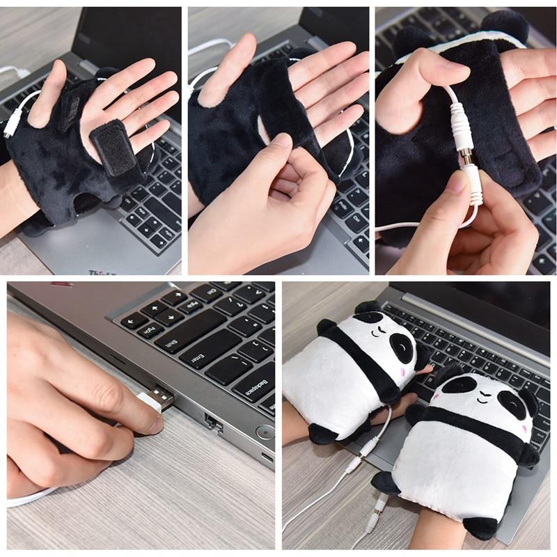 luvas quentes aquecido aquecedor de mão metade